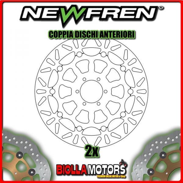 2-DF5230AF PARES DISCOS DE FRENO DELANTERO NEWFREN BIMOTA DB5 1000cc MILLE 2005-2011 FLOTANTE