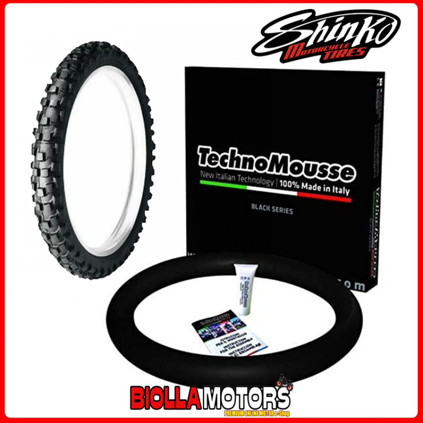 SET GOMMA SHINKO + MOUSSE ANTERIORE 90/100-21 MEDIUM ENDURO ANTIFORATURA
