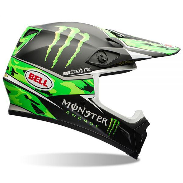 B70651 CASCO BELL MX-9 PRO CIRCUIT REPLICA CAMO GREEN TAGLIA XL