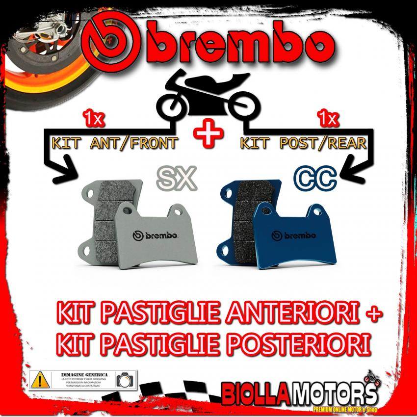 BRPADS-38927 KIT PASTIGLIE FRENO BREMBO OSSA TR FACTORY R 2015- 300CC [SX+CC] ANT + POST