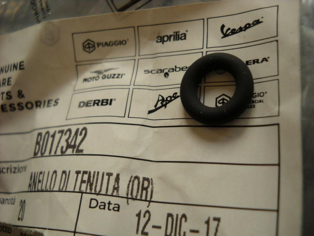 B017342 ANELLO DI TENUTA O-RING PIAGGIO VESPA GTV 300 4T 4V IE NOABS E3 2010-2013 (EMEA)
