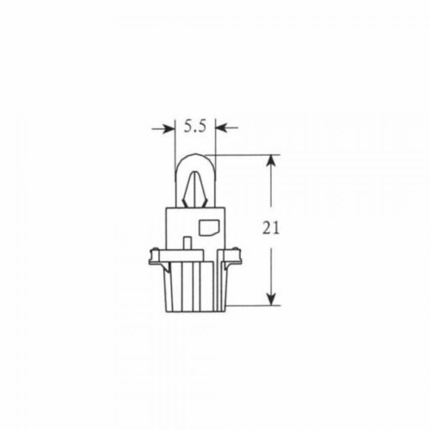 201900 LAMPADA HERT 12V-1,2W DASHBOARD (C10)