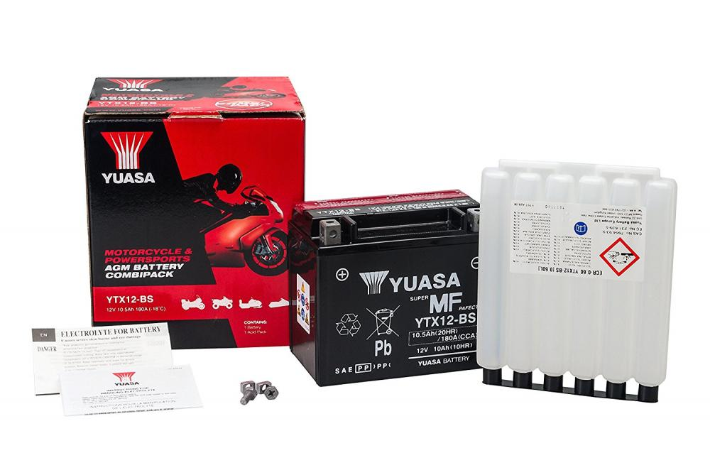 583158 BATTERIA PIAGGIO YUASA YTX12-BS SIGILLATA CON ACIDO YTX12BS MOTO SCOOTER QUAD CROSS
