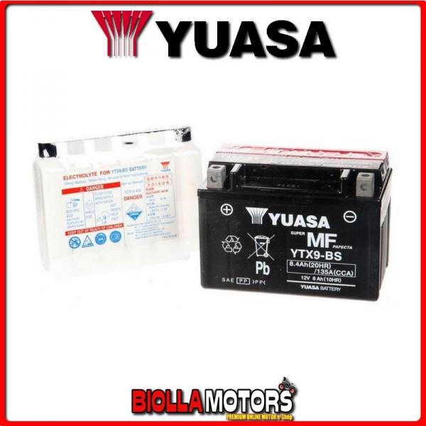 YTX9-BS BATTERIA YUASA SUZUKI XF650 Freewind 650 2002- E01158 YTX9BS