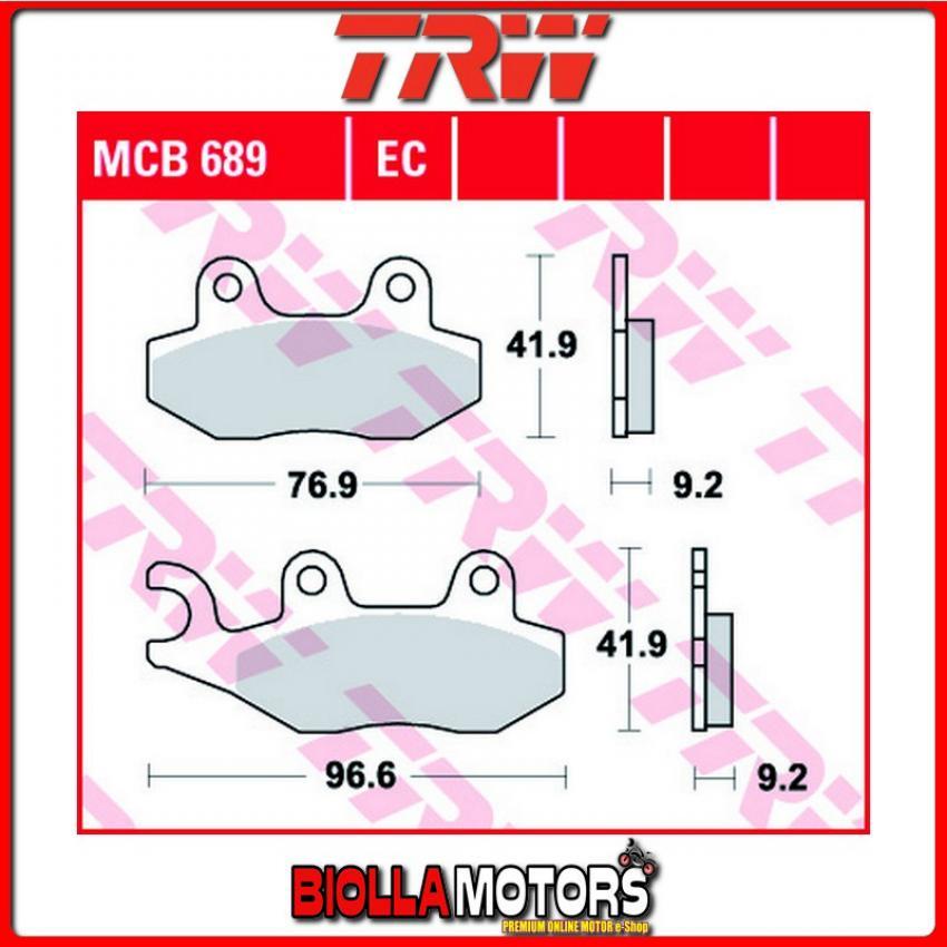MCB689 PASTIGLIE FRENO ANTERIORE TRW TGB 50 Sky 1997- [ORGANICA- ]