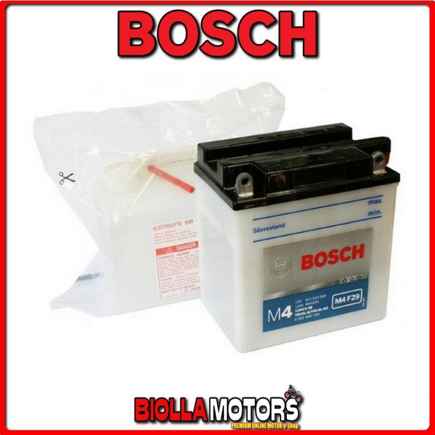 YB10L-B BATTERIA BOSCH 12V 11AH GILERA RV NGR (Electric-Starter) 250 - 0092M4F290 YB10LB