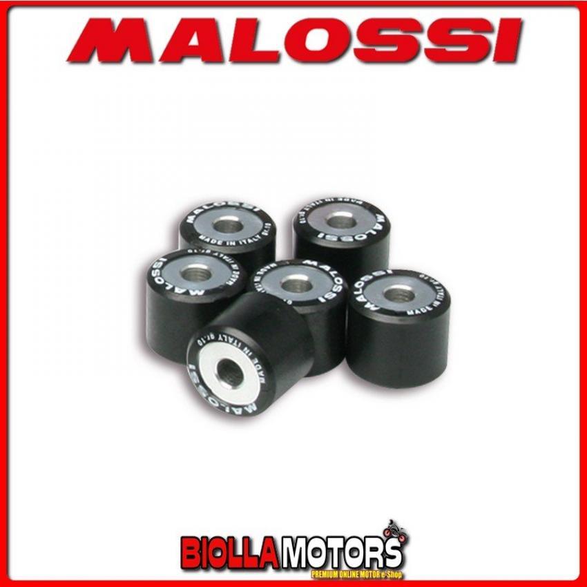 6611095.Q0 6 RULLI RULLI VARIATORE MALOSSI D. 20X17 GR. 13,5 VESPA LX 3V 150 IE 4T EURO 3 2012-> (M688M) - -