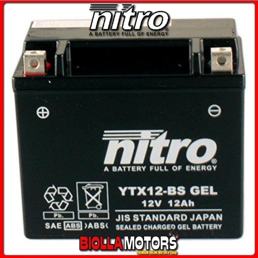 YTX12-BS-N BATTERIA NITRO YTX12-BS SIGILLATA CON ACIDO YTX12BS MOTO SCOOTER QUAD CROSS