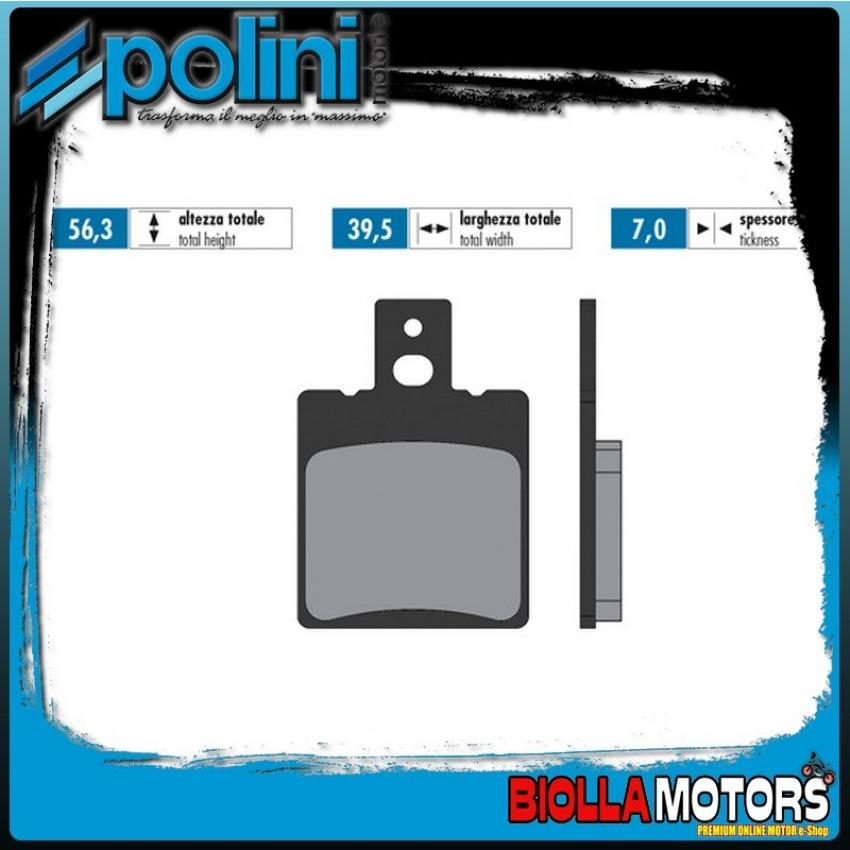 174.2029 PASTIGLIE FRENO POLINI POSTERIORE MALANCA GTI 125 125CC - SINTERIZZATA