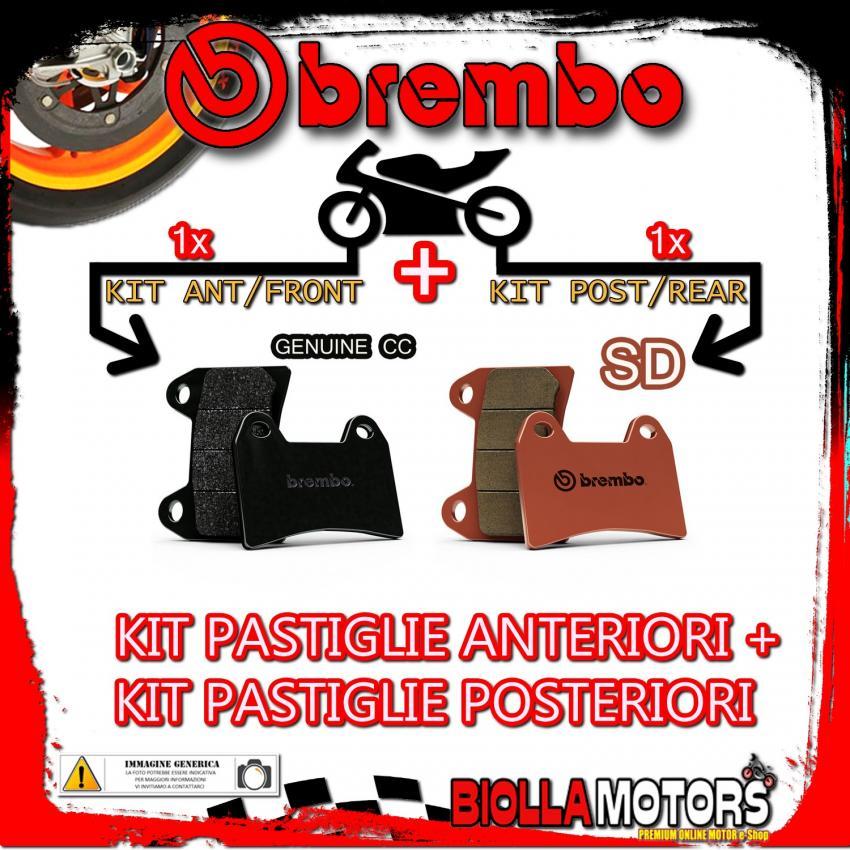 BRPADS-21184 KIT PASTIGLIE FRENO BREMBO MALANCA GTI 1970- 80CC [GENUINE+SD] ANT + POST