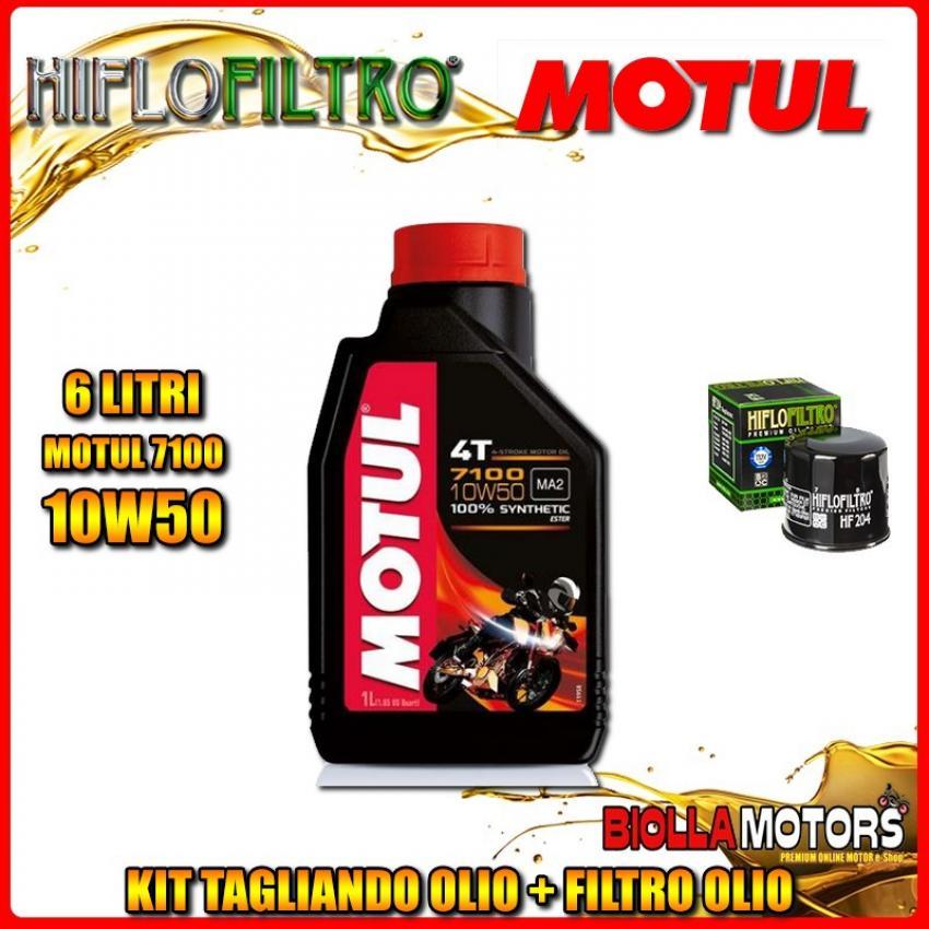 KIT TAGLIANDO 6LT OLIO MOTUL 7100 10W50 KAWASAKI VN2000 A1-A2,A6F Vulcan 2000CC 2004-2006 + FILTRO OLIO HF204