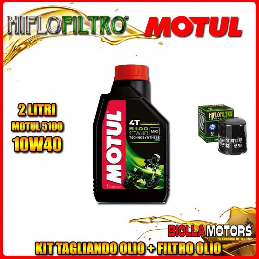 KIT TAGLIANDO 2LT OLIO MOTUL 5100 10W40 YAMAHA FZR250 EXUP MK-4,5,6,7 (Japan) 3LN 250CC 1991-1994 + FILTRO OLIO HF303