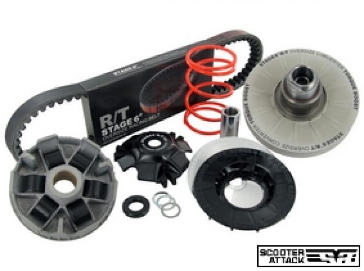 S6-5614005 CVT-Kit Oversize R/T, incluso correttore di coppia cinghia e variatore Piaggio braccio corto