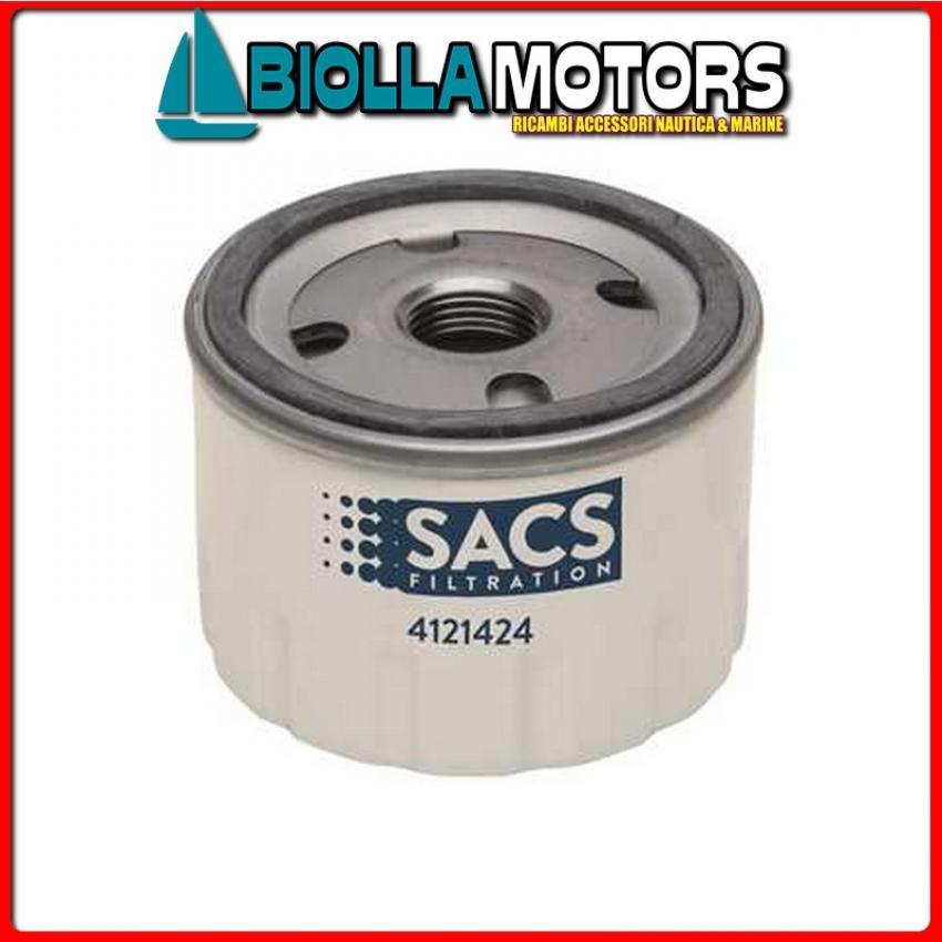 4121424 CARTUCCIA OIL V-22057107C< Filtro Olio Sacs per Motori MD../2001/2/3