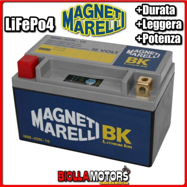 MM-ION-10 BATTERIA LITIO YTX14H-BS SUZUKI LT-A450X King Quad 450 2010- MAGNETI MARELLI YTX14HBS