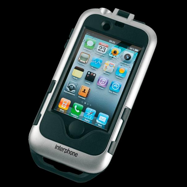 SMIPHONE4SILVER INTERPHONE SMIPHONE4 PORTA I-PHONE PER MANUBRI TUBOLARI