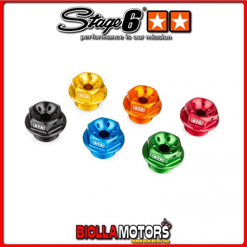 S6-SSP142/OR TAPPO OLIO MOTORE STAGE6 MINARELLI AM6 ARANCIO ANODIZZATO