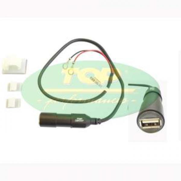 9980070 CARICATORE USB PRESA SINGOLA (2A - CAVO 0,5 M)