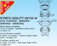 6042 SERIE STERZO KYMCO AGILITY 50/125 4t (O.R. 01000302 - 00800405 - 00800403 - 00600303)