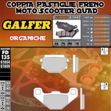 FD135G1050 PASTIGLIE FRENO GALFER ORGANICHE ANTERIORI MALAGUTI 50 MGX 94-