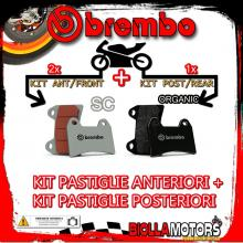 BRPADS-48572 KIT PASTIGLIE FRENO BREMBO SACHS ROADSTER 2000- 800CC [SC+ORGANIC] ANT + POST