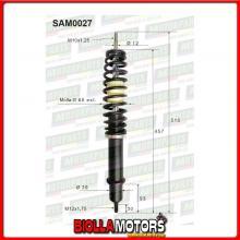 SAM0027 COPPIA AMMORTIZZATORI ANTERIORI MICROCAR AIXAM MEGA TRUCK D 400 2012 -> 4L009 (MK027)