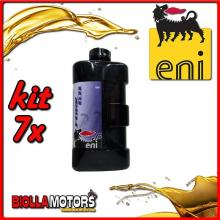 KIT 7X LITRO OLIO ENI FORK OIL 10W FORCELLA - 7x E142791