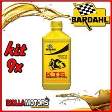 KIT 9X LITRO OLIO BARDAHL KTS SCOOTER RACING COMPETITION LUBRIFICANTE PER MOTO 2T BARDAHL - 9x220041
