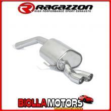 58.0674.56 SCARICO Evo Alfa Romeo 156 GTA 3.2 I V6 (184kW) d.70mm Berlina + Sportwagon 2002> Posteriore inox con terminali roton