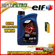 KIT TAGLIANDO 4LT OLIO ELF MOTO TECH 10W50 KTM 1190 RC8 1190CC 2009-2011 + FILTRO OLIO HF650