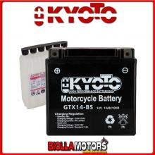 712140 BATTERIA KYOTO YTX14-BS SIGILLATA CON ACIDO YTX14BS MOTO SCOOTER QUAD CROSS