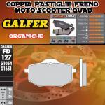 FD127G1054 PASTIGLIE FRENO GALFER ORGANICHE POSTERIORI CSR CRUISER 250 AUTOMATICA 06-