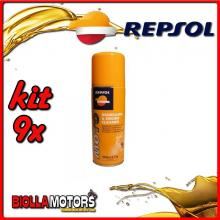 KIT 9X 400ML REPSOL MOTO DEGREASER & ENGINE CLEANER 400ML - 9x REPSOL38