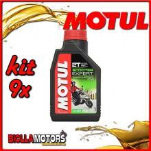 KIT 9X LITRO OLIO MOTUL SCOOTER EXPERT 2T MOTOR OIL TECHNOSYNTHESE - 9x 105880