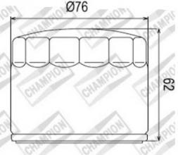 100609695 COF060 FILTRO OLIO BMW F800 R Chris Pfeiffer Replica  10