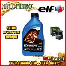 KIT TAGLIANDO 5LT OLIO ELF MOTO 4 SBK 10W40 YAMAHA MT-01 5YU 1700CC 2005-2011 + FILTRO OLIO HF303