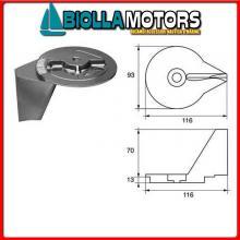 5123017 ANODO MOTORE MERCURY Pinna 30/40 (2 Cil 2T) - 25/30/40/50 (4T)