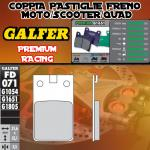 FD071G1651 PASTIGLIE FRENO GALFER PREMIUM ANTERIORI MALAGUTI 50 FIFTY BSF, BLACK SPECIAL 86-