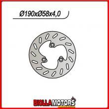 659107 DISCO FRENO ANTERIORE NG ADLY Thunder Bike 4T 125CC 2000/2006 107 190/80/58/4//3/10,5