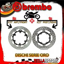 BRDISC-4106 KIT DISCHI FRENO BREMBO KTM ADVENTURE 2013- 1190CC [ANTERIORE+POSTERIORE] [FLOTTANTE/FLOTTANTE]