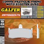 FD414G1375 PASTIGLIE FRENO GALFER SINTERIZZATE ANTERIORI TRIUMPH DAYTONA 675 SE 09-