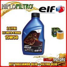 KIT TAGLIANDO 2LT OLIO ELF MOTO 4 ROAD 15W50 HUSQVARNA SM450 R 450CC 2008-2010 + FILTRO OLIO HF563