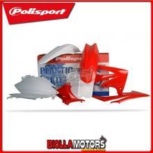 P90423 KIT PLASTICHE CARENE HONDA CRF 250 R 2011-2013 ROSSO/BIANCO POLISPORT
