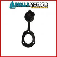 0800184 TAPPO C12758-B D40 BLACK Tappo in PVC per Portacanne