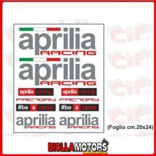 3457 KIT ADESIVI APRILIA UFFICIALE FACTORY (FOGLIO CM. 20x24) UNIVERSALE