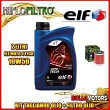 KIT TAGLIANDO 2LT OLIO ELF MOTO TECH 10W50 HUSQVARNA SMR125 4T 125CC 2012- + FILTRO OLIO HF140