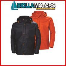 3040664 HH WW GALE RAIN JCKT 290 ORANGE XL Giacca Cerata HH Gale Rain Jacket
