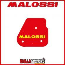 1411412 SPUGNA FILTRO ARIA MALOSSI YAMAHA AEROX 50 2T LC EURO 0-1 RED SPONGE PER FILTRO ORIGINALE -