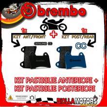 BRPADS-32709 KIT PASTIGLIE FRENO BREMBO MALANCA GTI 1970- 80CC [GENUINE+CC] ANT + POST