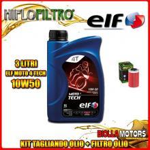 KIT TAGLIANDO 3LT OLIO ELF MOTO TECH 10W50 KTM 400 EGS 1st Oil Filter 400CC - + FILTRO OLIO HF155